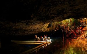 Boat cruise in the cave in Kenong Rimba Park .